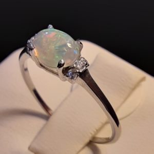 Sterling Silver Genuine Ethiopian Opal Ring