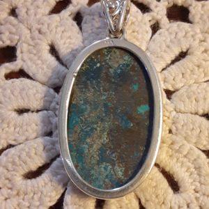 Sterling Silver Azurite Pendant