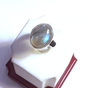 Sterling Silver Labradorite Ring Size 6