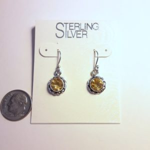 Sterling Silver Citrine Earrings