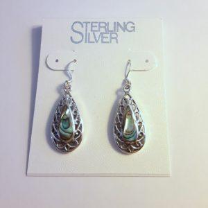 Sterling Silver Abalone Shell Earrings
