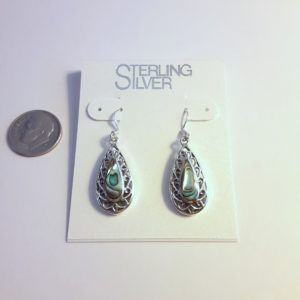 Sterling Silver Abalone Shell Earrings