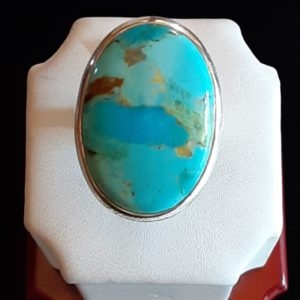 Sterling Silver Turquoise Ring Size 9