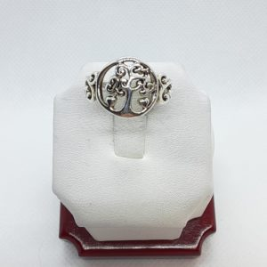 Sterling Silver Tree of Life Ring Size 8