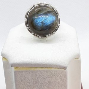 Sterling Silver Labradorite Ring Size 7