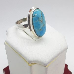 Sterling Silver Turquoise Ring Size 5-1/2