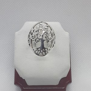 Sterling Silver Tree of Life Ring Size 6