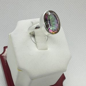 Sterling Silver Mystic Topaz Ring Size 7