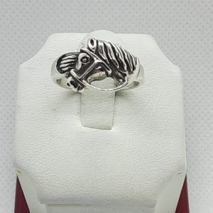 Sterling Silver Horse Ring Size 8
