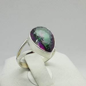 Sterling Silver Mystic Fire Ring Size 7