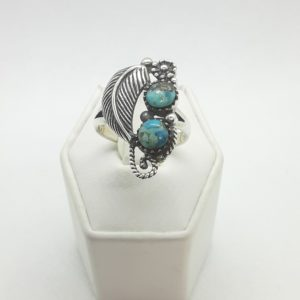 Sterling Silver Southwest Design Turquoise Ring Size 9