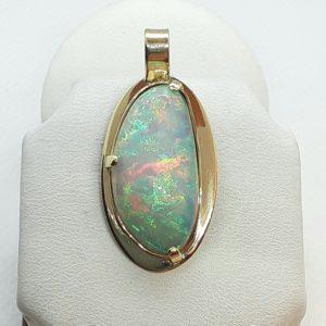 14k Yellow Gold Ethiopian Opal Pendant